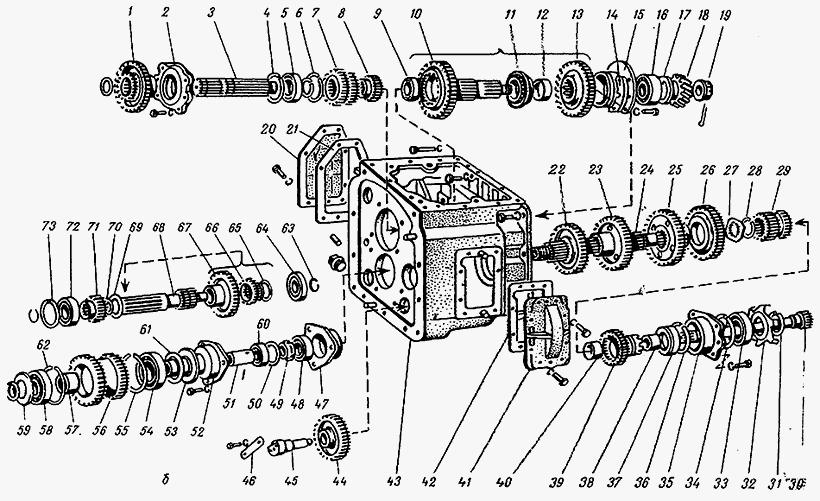 Коробка передач на мтз 82 схема